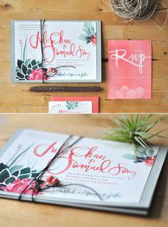 sooo pretty watercolor invitations!