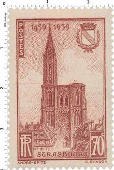 Cathédrale de Strasbourg : 5ème centenaire de l'achèvement de la flèche (1939)