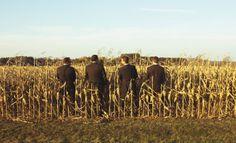 groomsmen, cornfield, boys will be boys, country wedding