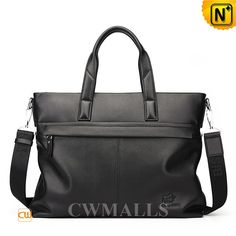 CWMALLS Mens Slim Leather Briefcase CW906305 Classic black leather briefcase updates classic silhouette with clean styling, designer business briefcase in genuine leather, finished in interior front zipper pocket, roomy back zip pocket, soft leather handles and a detachable canvas shoulder strap. www.cwmalls.com PayPal Available (Price: $257.89) Email:sales@cwmalls.com