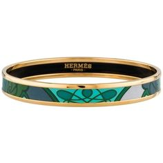 Pre-owned Brand New Hermes Gold Plated Bracelet ($407) ❤ liked on Polyvore featuring jewelry, bracelets, accessories, hermes jewelry, hermès, gold plated jewellery, pre owned jewelry and preowned jewelry