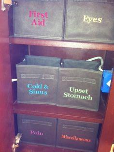 I need this! Organized medicine cabinet!