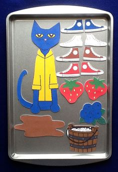 Pete the Cat activity for magnetic easel Preschool Literacy, Preschool Books, Early Literacy, Literacy Activities, Preschool Activities, Kindergarten, Flannel Board Stories, Felt Board Stories, Felt Stories
