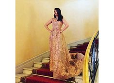 Aishwarya Rai Bachchan slaying it on Day 2 of Cannes. Strapless Dress Formal, Prom Dresses, Formal Dresses, Red Carpet Ready, Aishwarya Rai Bachchan, Full Look, Indian Film Actress, Bollywood Actors, Cannes Film Festival