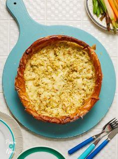 Homity Pie - Pinch Of Nom Slimming World Vegetarian Recipes, Vegetarian Pie, Skinny Recipes, Skinny Meals, Slimming Recipes, Easy Baking Recipes, Cooking Recipes, Pastry Recipes, Homity Pie