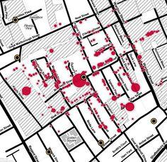 Interactive and modernized: John Snow's cholera map of London recreated
