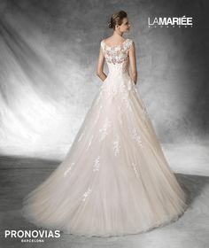 Blush wedding dress - Bia by Pronovias Pronovias Dresses, Pronovias Wedding Dress, Lace Wedding Dress, 2016 Wedding Dresses, Wedding Dress Styles, Designer Wedding Dresses, Bridesmaid Dresses, Pink Blush Wedding Gowns, Bridal Gowns