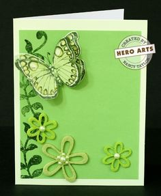 Hero Arts Cardmaking Idea: 3 Dimensional Butterfly