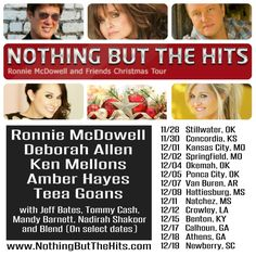 Looking forward to celebrating a Rockin' Little Christmas with Ronnie McDowell & Friends, Nothin' But The Hits tour! ⭐️⭐️⭐️⭐️⭐️❤️ www.deborahallen.com