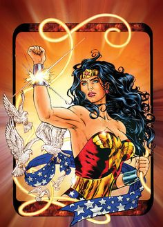 A Wonderful 4th of July! Wonder Woman by Al Rio by AlRioArt on DeviantArt