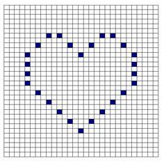 bobble heart pattern