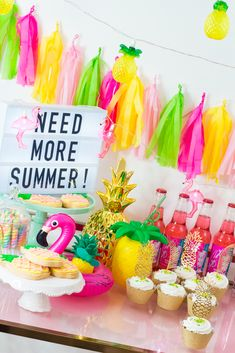End of Summer Party Cart Summer Party Themes, Summer Bash, Summer Pool Party, Summer Parties, End Of Summer, Summer Loving, Beach Party, Party Ideas, Luau Birthday