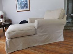 I loved working with the Pottery Barn twill for this slipcover. Very stable and durable. Just the right shade of pale Camel. slipcovermaker.com Furniture, Shabby Chic, Durable, Sofa, Pottery Barn, Home Decor, Chaise, Couch, Lounge