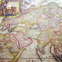 #Asia circa 1709 #maps #cartography