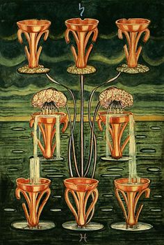 Eight of Cups - indolence (Thoth Tarot)