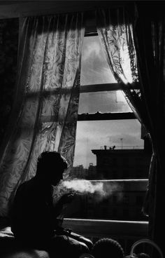Bw photo art by' Donata Wenders, 1999 Night Pictures, Black And White Photography, Monochrome, Art Photography, Stunning Photography, Windows, Gallery, Inspiration, Beautiful