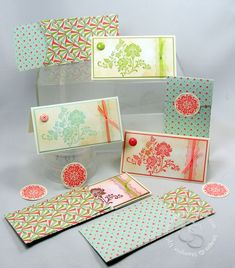 Fresh Vintage, Everyday Enchantment dsp, brads, & ribbon with the Petite Pocket die