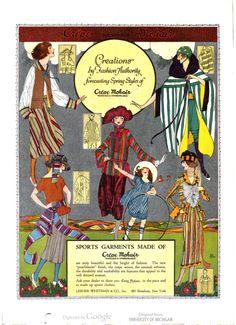 Sports garments made of Crepe Mohair. Harper's Bazaar, 1921.