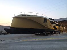 Palmer Johnson Yachts has built one of the largest carbon-composite motor yachts in the world at its Sturgeon Bay boatyard.