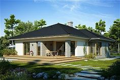 Miriam V - Dobre Domy Flak & Abramowicz Bungalow House Design, Home Fashion, Gazebo, House Plans, Sweet Home, 1, Outdoor Structures, Mansions, House Styles