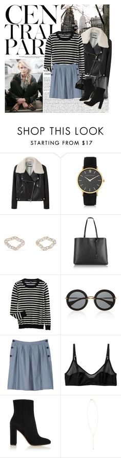 """Untitled #1736"" by hellohanna ❤ liked on Polyvore featuring Karl Lagerfeld, Acne Studios, Larsson & Jennings, Aamaya by priyanka, Yves Saint Laurent, A.P.C., Miu Miu, Monki, Gianvito Rossi and Rebecca Taylor"