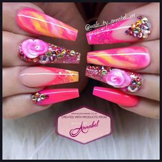 What manicure for what kind of nails? - My Nails Cute Acrylic Nails, Cute Nail Art, Acrylic Nail Designs, Nail Art Designs, Dope Nails, Bling Nails, Swag Nails, Hair And Nails, My Nails