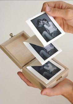 Photo memories in a box