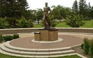 Sparty on the campus of Michigan State University
