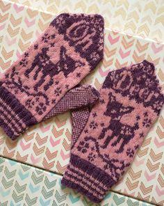 Oh Deer Mittens  Mitten Pattern  Knitting by DrunkGirlDesigns