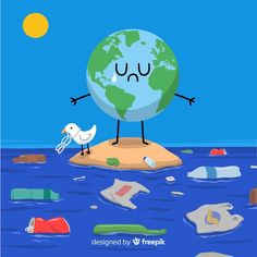 Love The Earth, Save Our Earth, Flat Design, Web Design, Site Design, Save Water Poster Drawing, Save Earth Drawing, Environmental Posters, Design Responsive