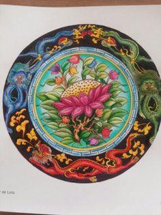 La flor de Loto, suele aparecer con una divinidad sentada sobre ella. Representa su origen, se abre con la salida del sol y se cierra con su puesta. Libro Mandalas del Tíbet #Mandala