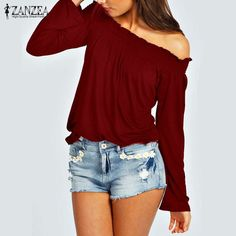 daa23a7a23f Solid Shirred Off Shoulder Tops Off Shoulder Tops