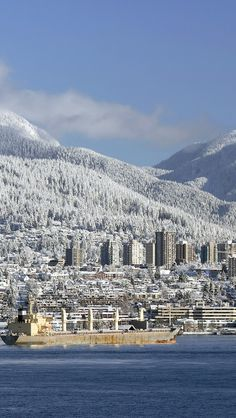 Snow Coverered Vancouver Canada.