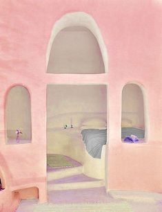 Sleeping area beyond the pink wall (MELUSINE.H)