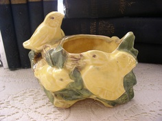 early McCoy pottery piece would love this with a beautiful plant in it on the porch