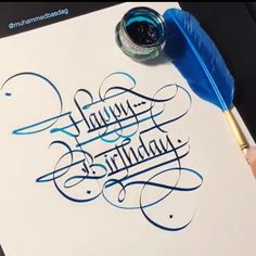 Looking for for ideas for happy birthday?Check this out for perfect happy birthday inspiration.May the this special day bring you love. Gothic Lettering, Graffiti Lettering Fonts, Hand Lettering Art, Tattoo Lettering Fonts, Hand Lettering Tutorial, Creative Lettering, Calligraphy Tattoo, Happy Birthday Hand Lettering, Happy Birthday Writing
