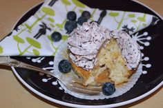 Blueberry Vanilla Cupcakes with Lemon Curd Filling