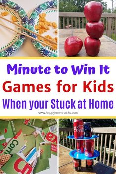 Get Unique Party Games for kids with these easy Minute to Win it Games for Kids. Perfect for birthdays, holiday & school parties, game nights & indoor games Family Party Games, Kids Party Games, Birthday Party Games, Family Game Night, Water Games For Kids, Summer Activities For Kids, Outside Games For Kids, Games For Little Kids, Kid Games Indoor