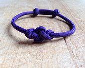 Eternity knot - adjustable paracord bracelet
