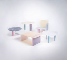 """Haze series of furniture by Wonmin Park """"The entire object gives the impression that it unveils itself in front of us through the opaqueness of its parts. But our perception deceives us when we think it begins and ends there."""" *the photo is not out of focus*"""