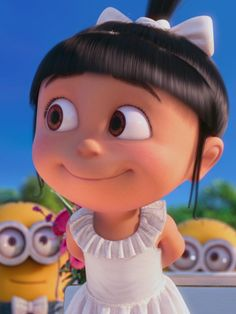 agnes, minions, and despicable me image Cartoon Wallpaper Iphone, Cute Disney Wallpaper, Cute Cartoon Wallpapers, Agnes Despicable Me, Minions Despicable Me, Disney Drawings, Cute Drawings, Girl Cartoon Characters, Kid Movies