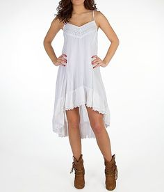 Billabong Salt Water Dress - White (I think it would look great with cowboy boots!)