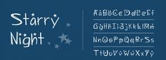 Starry Night font download
