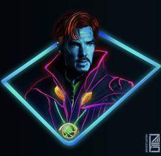 Neon Doctor Strange. :fanart  marvelstudios
