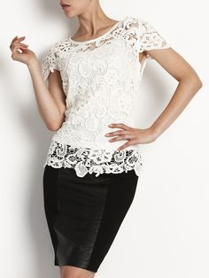 Guippure Lace Top   Evening Dresses, Formal Dresses, Cocktail Dresses, Bridemaid dresses and Mother of the Bride at Will Hope Love