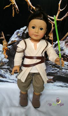 Star Wars Rey Complete Outfit fits American Girl Dolls by upowlnightcrafting on Etsy - pinned by pin4etsy.com