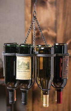 Hanging wine bottle rack #product_design
