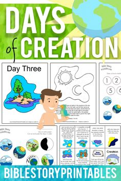 Free Creation Bible Printables from Bible Story Printables http://www.biblestoryprintables.com/BiblePrintablesCreation