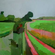 group-eight: Two paintings of a farm track in Suffolk on a grey September morning. Fred Ingrams http://www.fredingrams.com/index.html