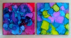 Alcohol ink coasters and trivets